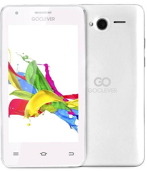 GOCLEVER Quantum 400Plus White Dual SIM - Mobilní telefon