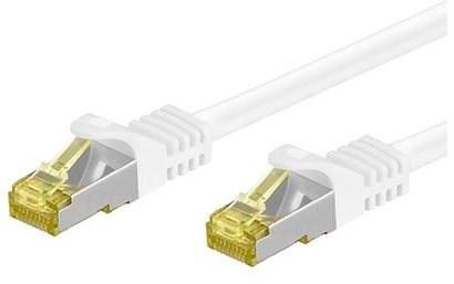 OEM S/FTP patchkabel Cat 7, s konektory RJ45, LSOH, 5m, bílý - Síťový kabel