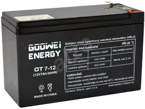 GOOWEI ENERGY OT7-12, 12V, 7Ah - Nabíjecí baterie