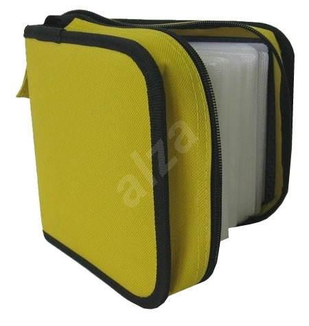 QCP Pouzdro na 64 CD/DVD - NYLON, čtvercové, žluté (yellow) -