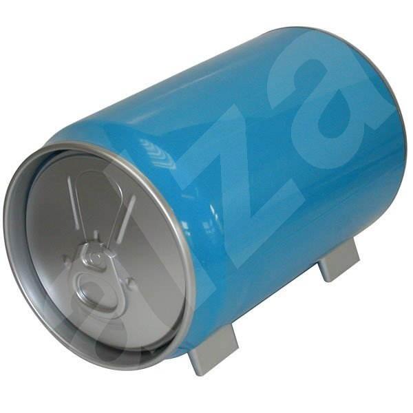 """QCP zásobník na stůl, design """"PLECHOVKA"""" pro 60 CD/DVD - modrý (blue) -"""