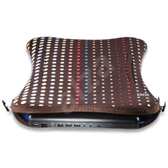 """BUILT Laptop Sleeve 15"""" hnědé s puntíky (dot no.7) - Pouzdro na notebook"""