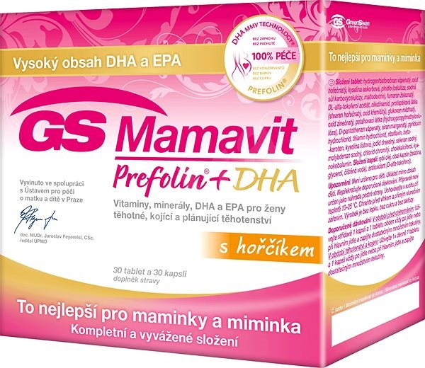 GS Mamavit Prefolin+DHA+EPA tbl/cps 30+30 2016 ČR/SK - Kyselina listová