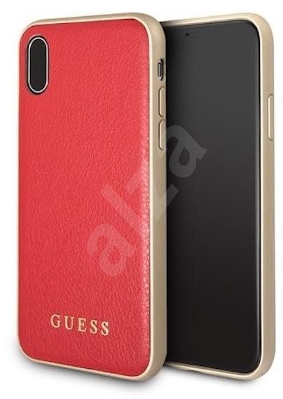 Guess Iridescent pro Apple iPhone X Red - Ochranný kryt  66d805e057b
