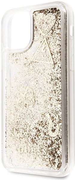 Guess Glitter Hearts pro iPhone 11 Pro Gold (EU Blister) - Kryt na mobil
