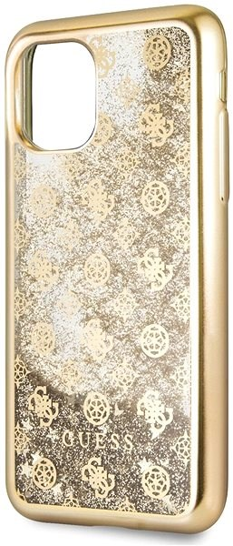 Guess 4G Peony Glitter pro iPhone 11 Gold (EU Blister) - Kryt na mobil