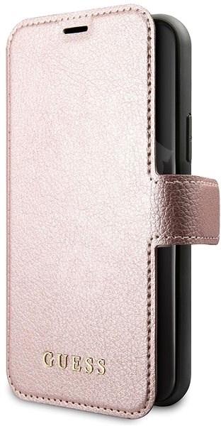 Guess Iridescent Book pro iPhone 11 Black/Rose (EU Blister) - Pouzdro na mobilní telefon