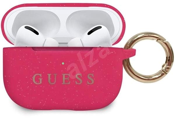 Guess Silikonový Kryt pro Airpods Pro Fuschia  - Pouzdro na sluchátka
