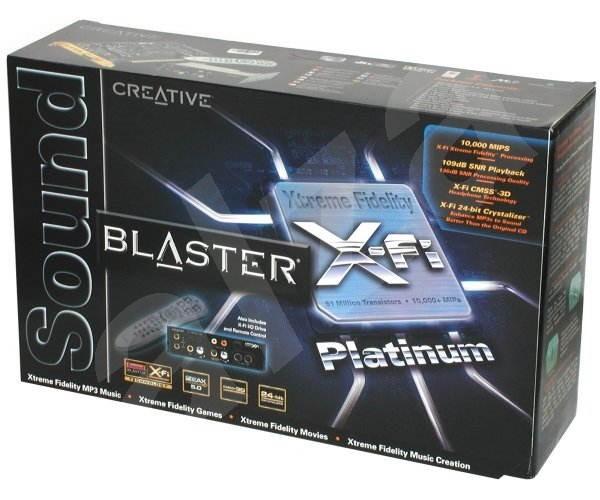 Zvuková karta Creative SOUND BLASTER X-Fi Platinum 24-bit 7.1 DO retail -