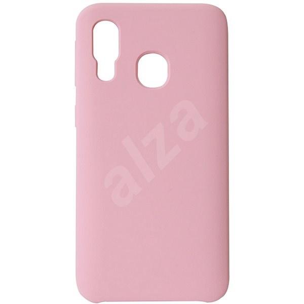 Hishell Premium Liquid Silicone pro Samsung Galaxy A40 růžový - Kryt na mobil