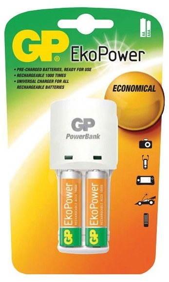 GP KB02 + 2x GP EkoPower AA - Nabíječka