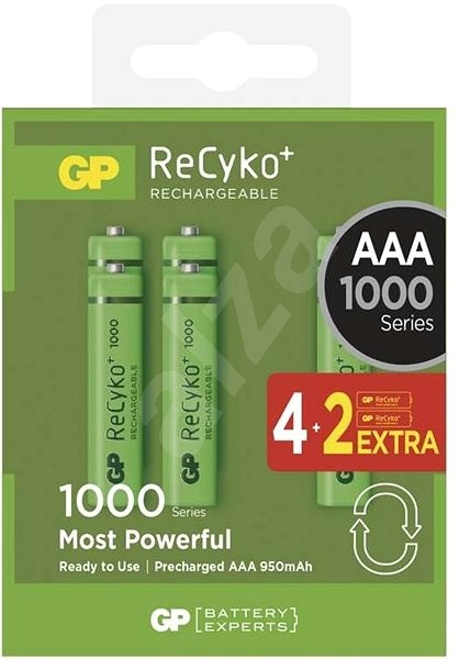 GP ReCyko 1000 (AAA) 4+2ks - Nabíjecí baterie