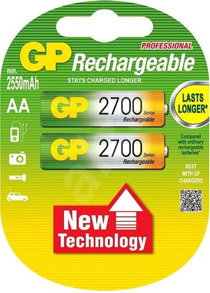 GP AA NiMH 2700mAh 2ks - Nabíjecí baterie