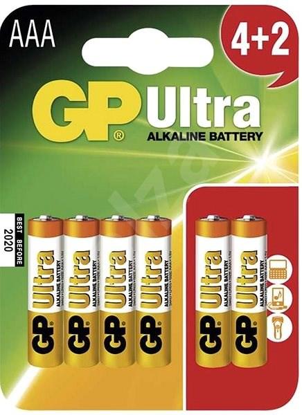 GP Ultra Alkaline LR03 (AAA) 4+2ks v blistru - Jednorázová baterie