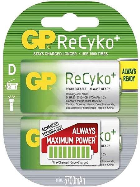 GP ReCyko HR20 (D) 5700mAh 2ks  - Nabíjecí baterie
