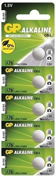 GP LR44 (A76) alkalická 5ks v blistru - Knoflíkové baterie