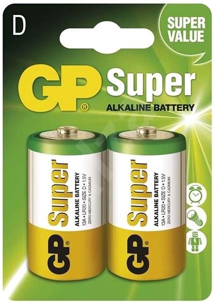 GP Super Alkaline LR20 (D) 2ks v blistru - Jednorázová baterie