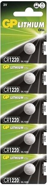GP CR1220 lithiová 5ks v blistru - Knoflíkové baterie
