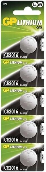 GP CR2016 lithiová 5ks v blistru - Knoflíkové baterie