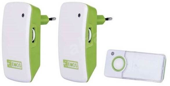 Emos P5742 bílo-zelený - Zvonek