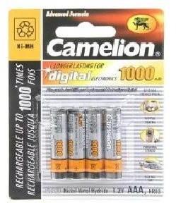 Camelion AAA mikrotužkové NiMH 1000mAh 4 ks - Nabíjecí baterie