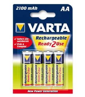 VARTA Ready2Use, AA tužkový NiMH 2100mAh, 4 ks - Nabíjecí baterie