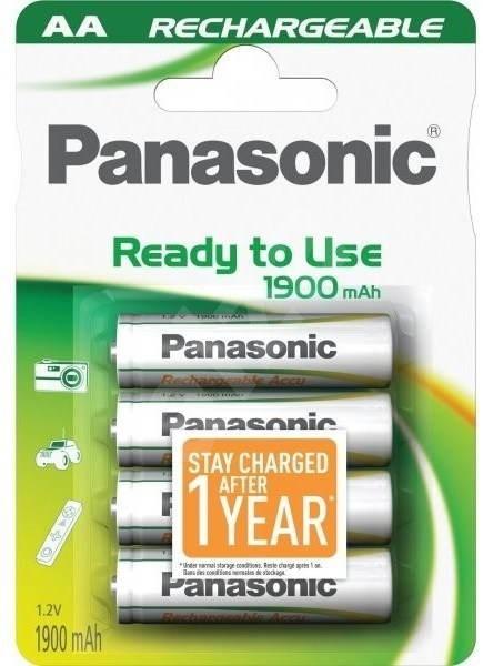 Panasonic Ready to Use AA HHR-3MVE/4B1 1900 mAh 3+1 ZDARMA - Nabíjecí baterie