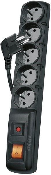 EMOS 5x zásuvky 1.5m, černá - Přepěťová ochrana
