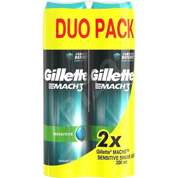 GILLETTE  Mach3 Gel Sensitive 2 × 200 ml - Gel na holení