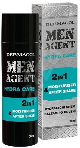 DERMACOL Men Agent Moisturizing Gel-Cream and Aftershave Balm  50 ml - Balzám po holení