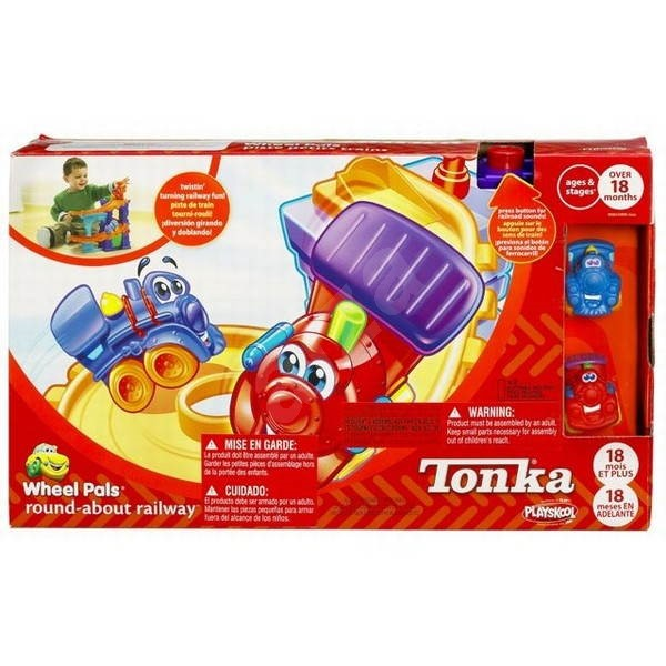 Playskool Tonka vlaková stanice s gumovými vláčky -