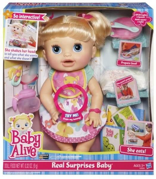 Baby Alive Panenka plná překvapení - Panenka