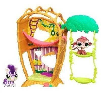 Litllest Pet Shop Útulný domeček s opičkou a koníkem -