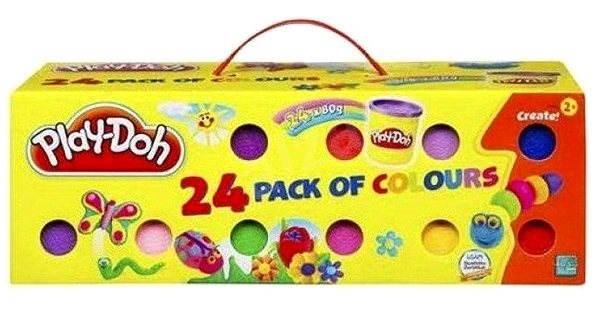 Play-Doh - Kufřík 24 kelímků plastelíny - Herní set