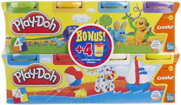 Play-Doh - 4 kelímky plastelíny + 4 zdarma -