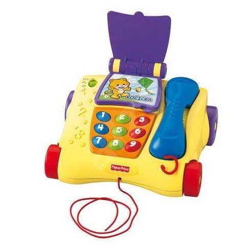 Fisher Price Mluvící tahací telefon CZ/ANG - Interaktivní hračka