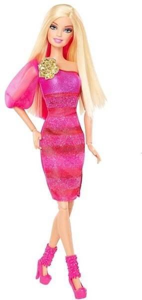 Barbie Fashionistas Barbie růžová - Panenka