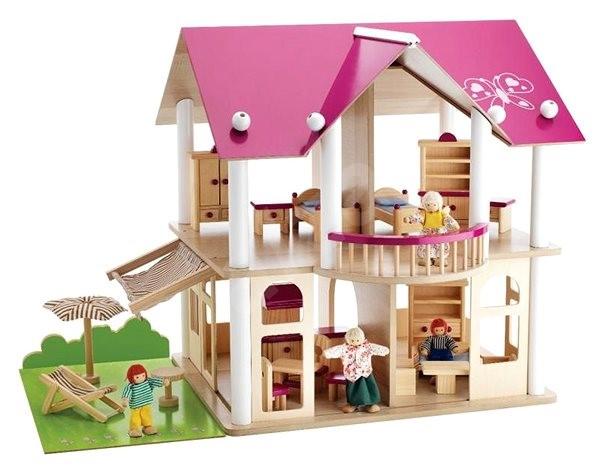 Simba Dřevěná vila s nábytkem a figurkami -