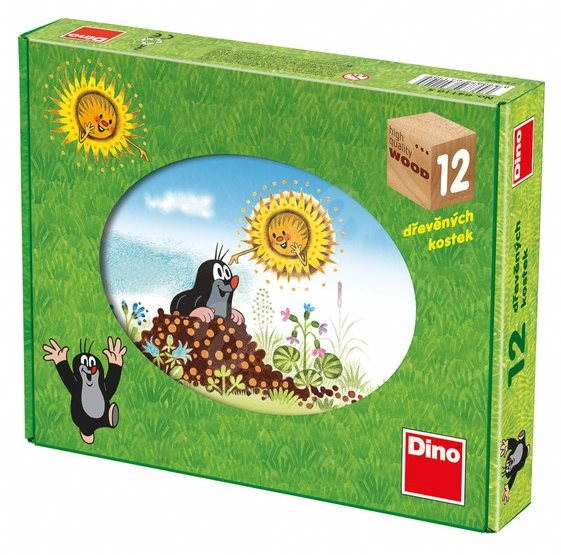 Dino dřevěné kostky kubus - Krtkův rok - Obrázkové kostky