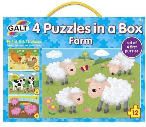 GALT 4 Puzzle v krabici - Farma - Puzzle