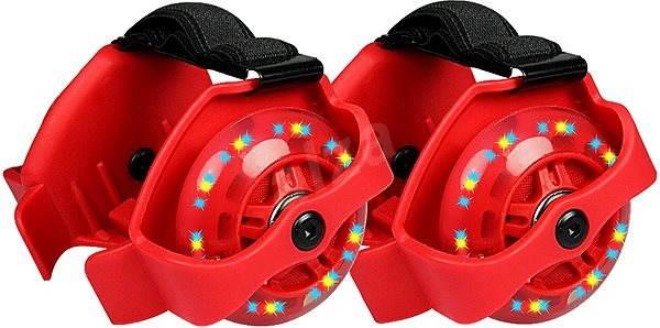 bfdff36fdbe Blikající jezdící kolečka na boty červená - Venkovní hra