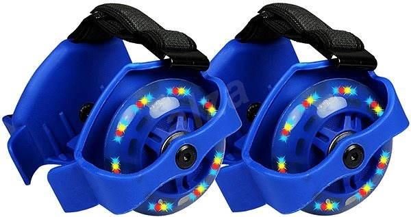 Blikající jezdící kolečka na boty modrá -  7e985ad4e4