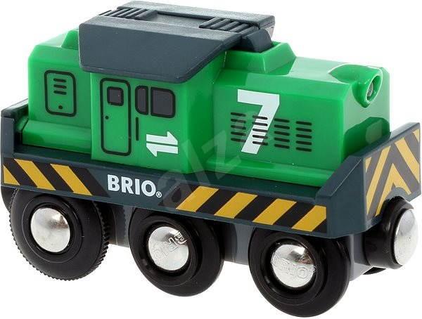 Brio - Elektrická lokomotiva zelená - Vláček
