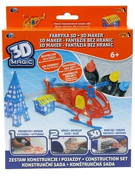 Epline 3D Magic mega sada – Helikoptéra - Kreativní hračka