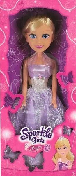 Sparkle Girlz Princezna 50 cm v šatech, růžová/fialová - Panenka