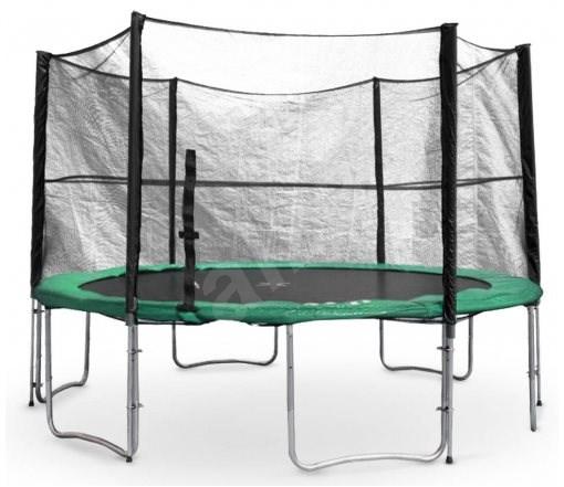 Trampolína s ochrannou sítí G21 430 cm, zelená - Trampolína