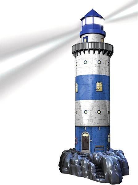 69aaac27c Ravensburger 3D 125777 Maják v příboji (Noční edice) - 3D puzzle ...