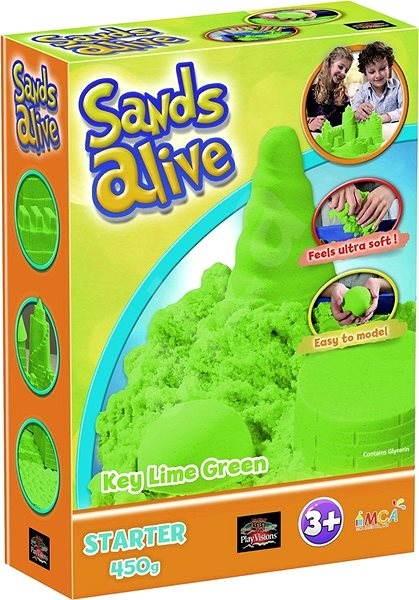 Sands Alive! Barevný písek zelený - Kreativní sada