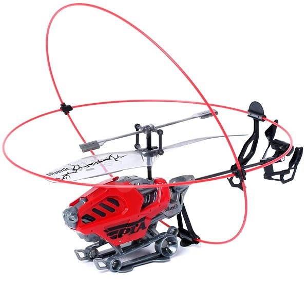 Vrtulník Heli Armor - Obrněná helikoptéra červená - RC model