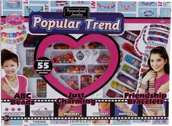 Populární trendy- Výroba šperků s korálky - Kreativní sada